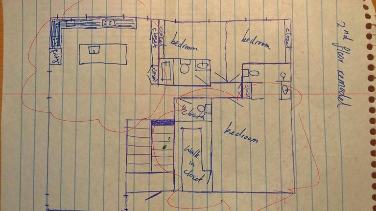 De grote verbouwing familie hoekstra - Plan slaapkamer kleedkamer ...