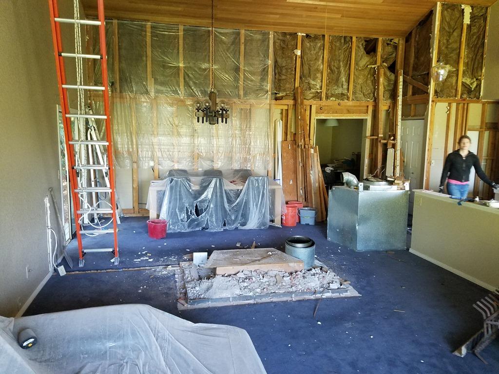 De grote verbouwing verwijderen dragende muur tussen keuken en